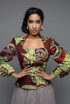 SALE - Efe-shine African print tailored jacket by GITA'S PORTAL (affiliate)