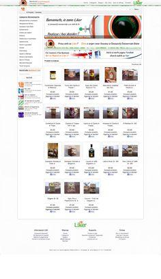 Sito web Shopping Mall Liker.it - HomePage - Realizzato con Costumizzazione Opencart 1.4 - Anno 2012