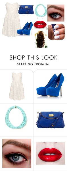 """""""look para uma balada ou shopping"""" by gaabi-cotrim ❤ liked on Polyvore featuring Talula, Lipsy, NESSA and Marc by Marc Jacobs"""