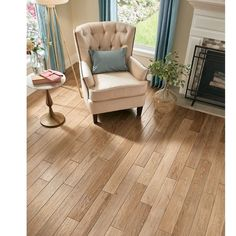 AHF Products Oak Thick x Wide x Length Solid Hardwood Flooring Finish: Natural Attraction Engineered Bamboo Flooring, Acacia Hardwood Flooring, Maple Hardwood Floors, Solid Wood Flooring, Birch Floors, Armstrong Flooring, Solid Oak, Attraction, Stains