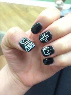 nice Fall out boy nail art...