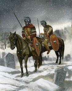Roman cavalry, 3rd-4th century CE