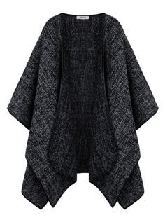 Women Loose Irregular Pure Color Woolen Cape Coat - Gchoic.com