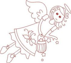 Christmas Redwork 6 Embroidery Design by Kinship Kreations Types Of Embroidery, Beaded Embroidery, Cross Stitch Embroidery, Hand Embroidery, Embroidery Designs, Christmas Embroidery Patterns, Applique Patterns, Coloring Pages, Needlework