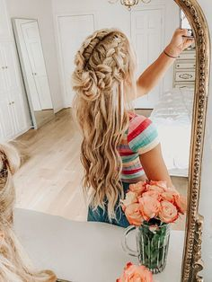 Flower Braided Hairstyle #hairstyles #hairstyles2019