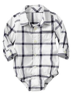Gap | Checkered button-up bodysuit
