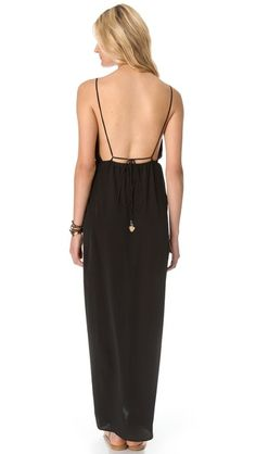 Back detail, Indah River Split Maxi Dress