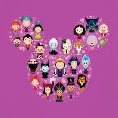 Disney WonderGround World of Pixar Characters Deluxe Print by Jerrod Maruyama Disney Pixar, Disney Tsum Tsum, Disney Villains, Disney And Dreamworks, Disney Art, Walt Disney, Evil Villains, Disney Mickey, Mickey Mouse