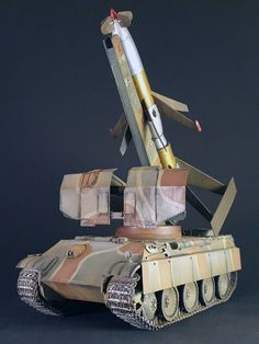 The Rheintochter R-IIa on Panther is a contract work and its painted from Modellbau Syndikat Michael Busch. Scale 1:35