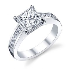 Diamond Ring (#31-v137fcw-e) - Engagement Rings Solitaire - Designer Engagement Rings, Fine Jewelry & More. Serving San Carlos, Redwood City, Belmont, Foster City, San Mateo & the entire bay area.