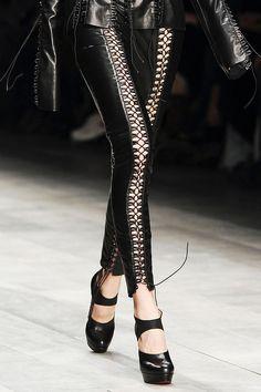 fashion, clothes, clothing, bottoms, pants, laces, black