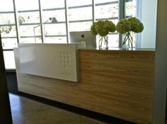 Furniture, Executive Office Design Layout With Wooden Reception Desk: How to make a reception desk? That's so easy