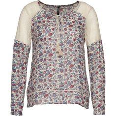 Bluse mit #Blumenmuster - Lockere hellblaue #Bluse von Pepe Jeans. Das dünne Material mit dem fließendem Fall trägt dazu auf seine besondere Art bei. - ab 79,90€