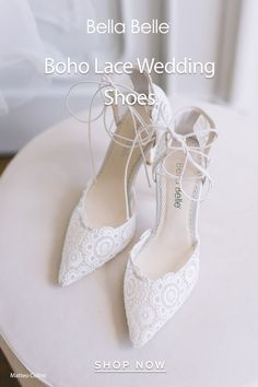 Boho brides love Cameron lace up wedding shoes with the geometricl lace embroidery patterns. Perfect for a garden and boho wedding. Gold Wedding Shoes, Wedding Shoes Heels, Boho Wedding, Lace Embroidery, Embroidery Patterns, Boho Bride, Low Heels, Perfect Wedding, Lace Up