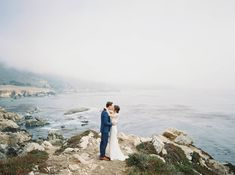 This gorgeous Big Sur cliff side wedding featured a color palette of blue, blush, and cream with gold accents. When I Get Married, I Got Married, Pacific Coast, Wedding Gallery, Big Sur, Bespoke, Weddings, Outdoor, Color