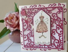 DipsDesigns: Dress Tag Card with Mannequin Dress Card, Step Cards, Card Making Tutorials, October 2014, All Things, Ali, Studios, Girly, Trees