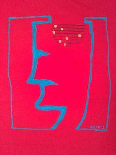 Head handpainted t shirt by miritatshirts on Etsy, €18.00
