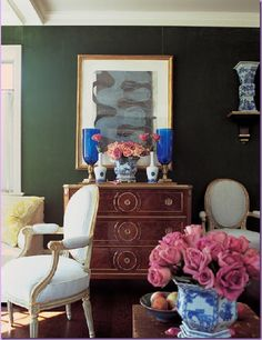 love the dresser and the color on either side