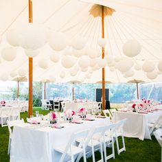 Whimsical Tented Reception Decor // mark davidson photography // http://www.theknot.com/weddings/album/143941