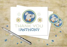 Can't send all of your little one's friends a little doggie to thank them? Do the second best thing! Send these cards from the Julie Bluet Etsy.