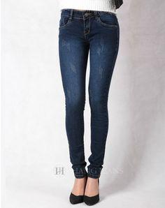 Hằng Jeans - Quần jeans skinny côn bó mài xước nhẹ 3102. Giá: 289.000đ