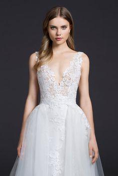 Lazaro Style 3656 Bridal Gown Detail