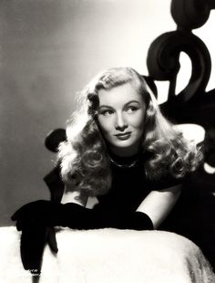 """""""I will have one of the cleanest obits of any actress. I never did cheesecake like Ann Sheridan or Betty Grable. I just used my hair."""" - Veronica Lake"""
