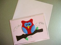 Sleeping Owl Thank You Card greeting card by THWoodlandCreatures