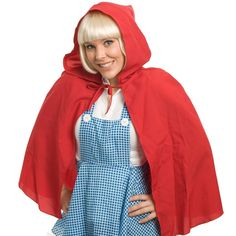 Let's Party With Balloons - Red Riding Hooded Cape, $18.00 (http://www.letspartywithballoons.com.au/red-riding-hooded-cape/)