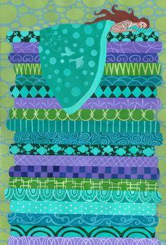 Fairy Tale Series: Princess and the Pea by Frances Alcaraz x Acrylic on Paper Princess Alice, Princess And The Pea, Hans Christian, Illustrations, Graphic Illustration, Andersen's Fairy Tales, Tales Series, Love Fairy, Fairytale Art