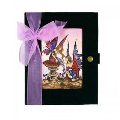 Amy Brown fantasy art journal Devotion is 10 inches tall, has romantic fairy art on the velvet cover, bow trim, snap closure and blank pages inside. Amy Brown Fairies, Musical Jewelry Box, Love Fairy, Fairy Art, Fantasy Art, Romantic, Artist, Pink, Journals