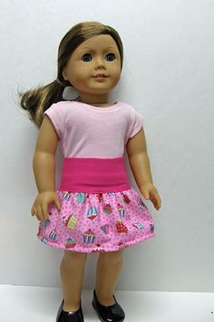 American Girl doll clothes - skirt and top - 18 inch doll clothes