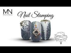 Körömnyomda használata körömlakkal - How to use Nail Stamping with nail polish - YouTube