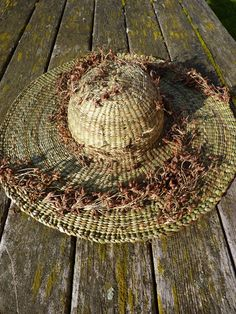 Weaving A Cattail Hat Baskets Pinterest Weaving