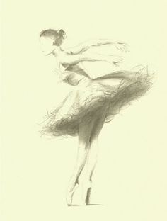 Items similar to Limited Edition 8 x 11 print on CREAM PAPER of original pencil drawing by Ewa Gawlik on Etsy Ballerina Sketch, Ballerina Art, Ballet Art, Pencil Drawings, My Drawings, Dancer Drawing, Ballet Painting, Zen Colors, Ballet Images