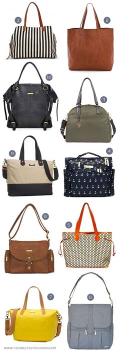 Check out these 10 super stylish diaper bags (that definitely aren't ugly) at The Sweetest Occasion