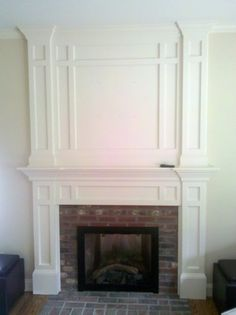 moulding on raised hearth.....Brick Fireplace Design, Pictures ...