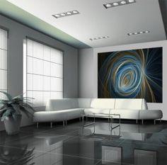Evolution V fotobehang 1507 Blue Spiral