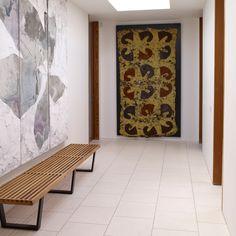 Modern hallway with stone floor tiles