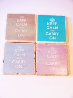 Keep Calm...and order these today! Beverage coasters by 5 Creations Handmade Decor