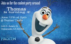 Fully Customizable Disney Frozen Invitation Digital by KsCreationz, $4.95
