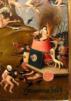 The Last Judgment (detail), Hieronymus Bosch. Oil and tempera on panel Stanford Museum Hieronymus Bosch, Art Roman, Garden Of Earthly Delights, Art Optical, Dutch Painters, Equine Art, Fantastic Art, Art History, Renaissance