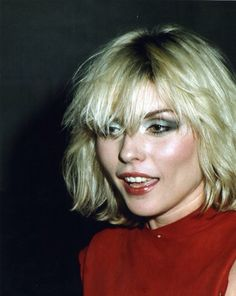 Debbie Harry, aka Blondie.                                                                                                                                                                                 More