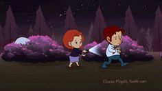 """elianamiyuki: """" The X-files Tribute Project - Case #01 - Shy Flukeman seeks new friends The first in a series of short animated loops I'm making to celebrate my favorite show's return after so many..."""