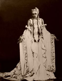 Olga Spessivtseva (1895 – 1991), one of the 20th century's foremost ballerinas, in a costume by Natalia Goncharova (1933) http://en.wikipedia.org/wiki/Olga_Spessivtseva