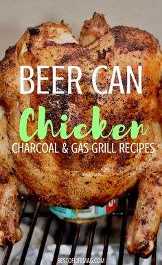 Beer Can Chicken Recipe with Gas, Grill, and Charcoal Directions – The Best of Life® Magazine Beer can chicken is a classic recipe that never loses the wow factor. Whether cooking on a gas. Grilled Whole Chicken, Beer Chicken, Stuffed Whole Chicken, Bbq Whole Chicken, Meat On The Grill, Beer Can Chicken Grill, Dinners On The Grill, Grill Meals, Cooking On The Grill