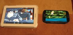 Some Game Emulation on Android - ScummVM on android, Full Throttle on the left,  Curse if Monkey Island  on  the right.