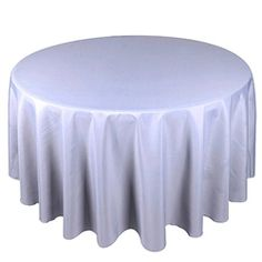 Silver 90 Inch Round Tablecloths