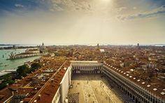 Scarica sfondi Venezia, Estivo, panorama city, centro storico, Italia