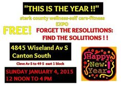 shelve the resolutions and explore the solutions...Sun. 1/4/15  12Noon to 4pm